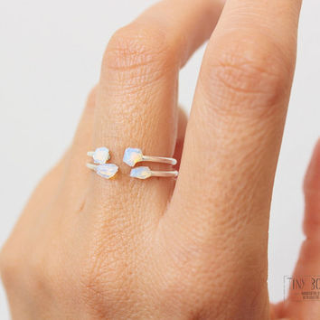 Opal Ring,Sterling Silver Ring, Stacking Rings,Delicate Ring for Bridesmaid Gift,Dainty  Ring,Opal Stackable Rings,Simple Ring, Bridesmaid