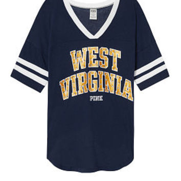 West Virginia University Bling Athletic Tee - PINK - Victoria's Secret