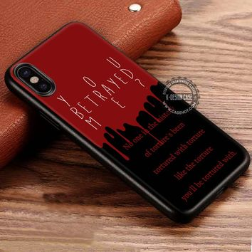 Quote tortured from Crowley Supernatural iPhone X 8 7 Plus 6s Cases Samsung Galaxy S8 Plus S7 edge NOTE 8 Covers #iphoneX #SamsungS8
