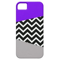 Electric New Wave Neon Purple Chevron Pop Design iPhone 5/5S Cases