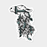 Poetic Llama Sticker By LouJah Design By Humans