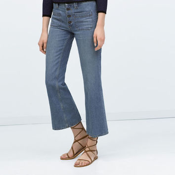 Short flared jeans
