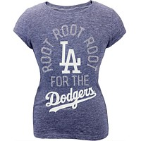 Los Angeles Dodgers - Glitter Root Girls Youth T-Shirt