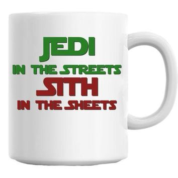 ICIKU7Q Jedi In The Streets Sith In The Sheets Mug