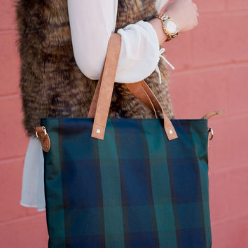 Plaid Shoulder Bag