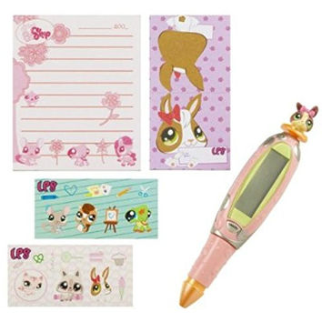 Hasbro Littlest Pet Shop Bunny Interactive Digital Pen with Note Pad & Stickers
