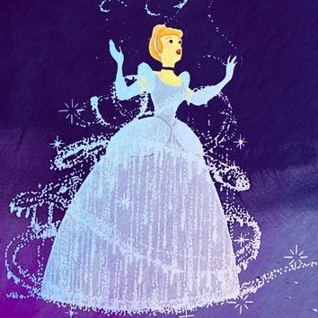 Disney's Cinderella in Purple Art Print by Foreverwars
