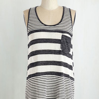Mid-length Tank top (2 thick straps) Here to Staycation Top in Charcoal
