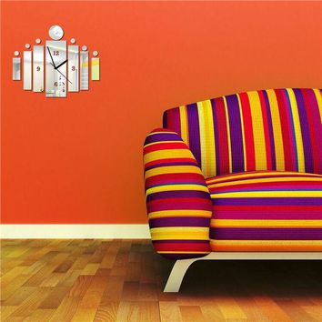 LMFUG3 Strong Character Diy Home Decor Decoration Mirror Wall Sticker Quiet Clock [4918618628]