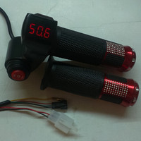 twist throttle with digital data display& 3 gears speed switch gas handle accelerator 12-100v for electric bike scooter