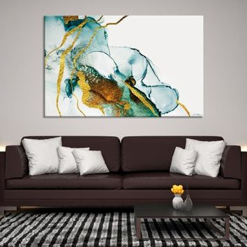 73289 - Modern Abstract Canvas Art | Colorful Ink Painting | Abstract Wall Art | Marble Wall Art | Marble Canvas Print | Watercolor Abstract