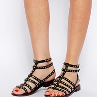 ASOS FOR KEEPS Leather Gladiator Flat Sandals