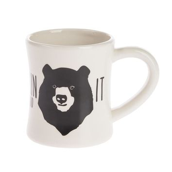 Grin and Bear It Bear Mug. 13.5 oz.