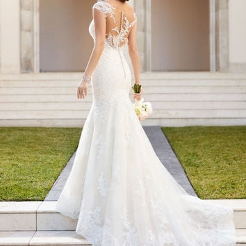 Vestido De Casamento Bridal Gown Rustic Women Sexy Mermaid Wedding Dress Turkey Vintage Lace Backless Wedding Dresses 2016