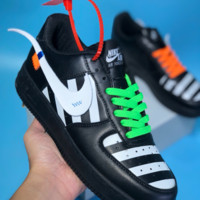 KUYOU N426 Nike Air Force 1 x Off White Low Casual Skate Shoes Black