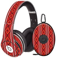 Red and White Tribal Skin  for the Beats Studio Headphones & Case by skinzy.com