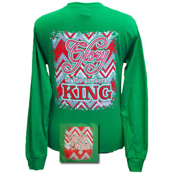 Girlie Girl Originals Christmas Glory The Newborn King Long Sleeves T Shirt