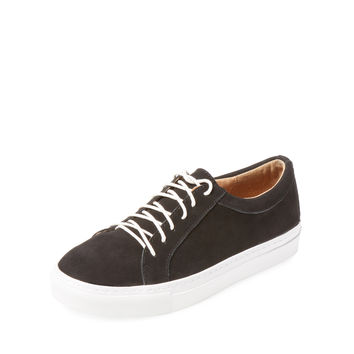 Bettye by Bettye Muller Women's Boyfriend Nubuck Low Top Sneaker - Black
