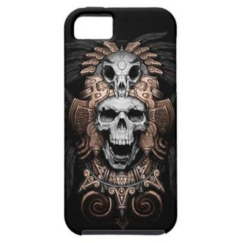Day of the Dead Aztec Skull Apple iPhone 5 Cover