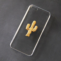 Cactus iPhone 6 Case Clear iPhone 5 Case Gold Transparent iPhone 5 Case iPhone 5s iPhone Case Galaxy S3 Case Samsung Galaxy S4 iPhone 6 Plus