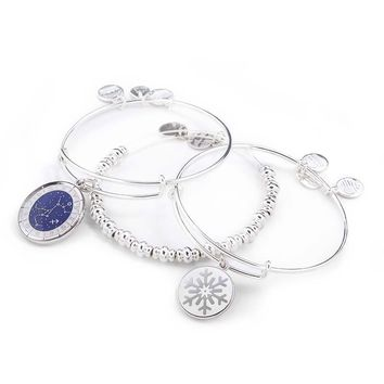 Snow Star Bangle Stack