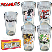 PEANUTS PINT GLASS SET