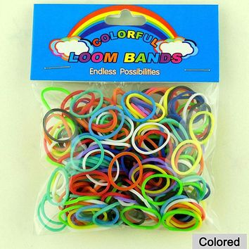 DIY 12 Colors Gum For Bracelets For Women Jewelry Fashion Brand Loom Band Charms Rubber Bands To Weave Bracelet Child Gift