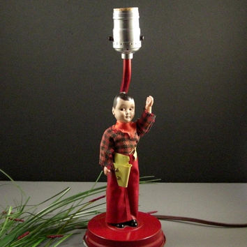 50s Cowboy Cupie Doll Table Lamp // Childrens Room Decor // from Successionary