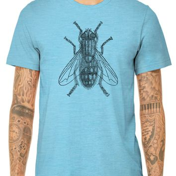 Austin Ink Apparel Common House Fly Quality Triblend Short Sleeve Mens T-Shirt