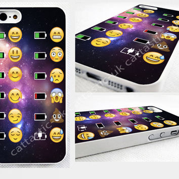 space, alien,poop,Emoji,battery,iPhone 4,4s, 5C, 5S,5,6,6 plus glossy cover Case