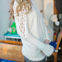 Sexy Lace Bat Sleeve Hollow Out knit &Cardigan