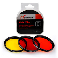 58mm Red Yellow Orange Colored Lens Filter kit Panchormatic Set for SLR Cameras