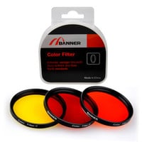 72mm Full Colors Circular Lens Filter for Black & White Photography 3 colors
