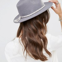 Brixton Fedora with Contrast Twisted Cotton Band at asos.com