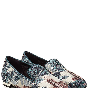 Burberry Shoes & Accessories - Printed Mulberry Silk Loafers