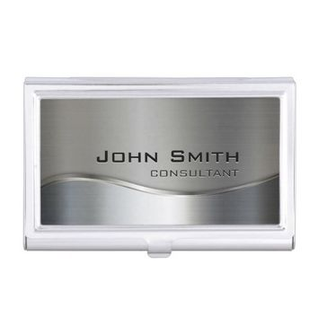 Professional Elegant Modern Silver & Gold Metal Bu Business Card Holder