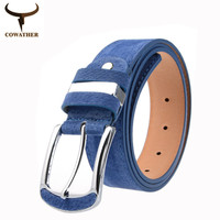 COWATHER fashion dress nice quality faux leather women belts for women strap female metal pin buckle cintos CO09 free shipping