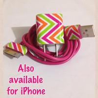 Customized Colored ZIGZAG I Phone 4/4S Charger customized for you