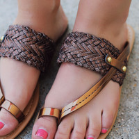 Shimmer and Shake Sandal - Bronze
