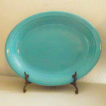 Vintage Homer Laughlin Fiestaware Turquoise Serving Platter