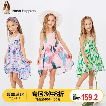Puppy Girl Dresses Summer Dresses 2009 New Sleeveless Chiffon Children's Skirts Westernized Princess Skirts