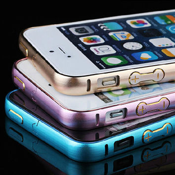 Aluminum Bumper Case for iPhone 5s 5 & 4s 4 apple Fashion Circle Arc Metal Button Frame Luxury Metal Button Cases for iPhone5 s