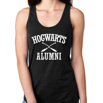 Hogwarts Alumni Ladies Black Tank Top
