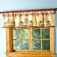 Primitive Stars Window Valance Sheep Willows Country Curtain Kitchen Home Decor