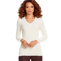 Alex Marie Vanessa V-Neck Cashmere Sweater | Dillards
