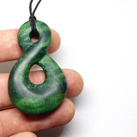 Wood necklace, Infinity pendant, Green necklace, Green jewelry, Green pendant, Green wood, Wooden necklace, Wooden pendant, Wooden jewelry