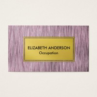 Contemporary Purple Faux Scratched Metal Business Card