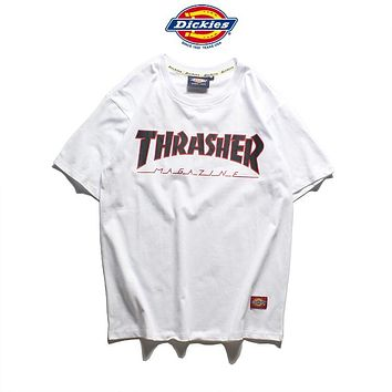 Dickies x THRASHER Woman Men Fashion Tunic Shirt Top Blouse