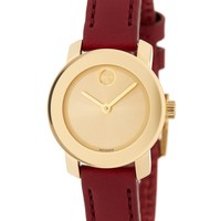 Women's Bold Burgundy Leather Watch