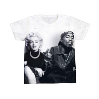 Marilyn Monroe &  Tupac  Sublimation  T-shirt.